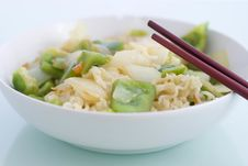 Free Noodles With Green Pepper Royalty Free Stock Photo - 14464065