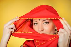 Free Beautiful Indian Traditional Woman Eyes Royalty Free Stock Photos - 14464268
