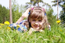 Free The Girl Lays In A Grass Stock Photo - 14464730