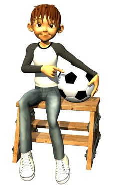 Free Kid Boy Teen Human Is Also A Footballer Stock Image - 14465591