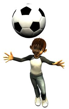 Free Kid Boy Teen Human Footballer Head Stock Image - 14465651