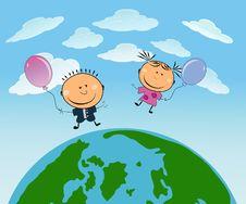 Free Vector Happy Kids Stock Photos - 14466093