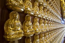 Free The Hundred Thousand Budda Wall Stock Image - 14466211