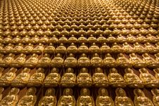 Free The Hundred Thousand Budda Wall Stock Photography - 14466232