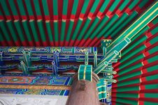 Chinese Roof Of Baromraja Temple Thailand