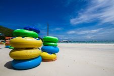 Free Color Rubber Rings Of Koh Larn Pattaya Stock Image - 14466281