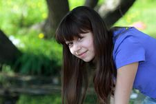Free Teen Girl In The Forest Stock Photos - 14467053