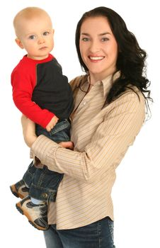 Happy Mother With Little Son Stock Images