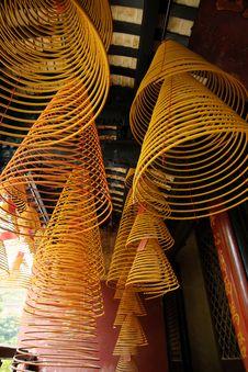 Free Incense Spirals, Kun Iam Temple, Macau. Royalty Free Stock Photos - 14468548