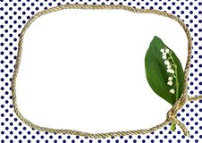 Dotted Frame With Lily Of Valley Royalty Free Stock Photo