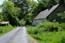 Ruines Of A Traditional Irish Cottage Royalty Free Stock Photos
