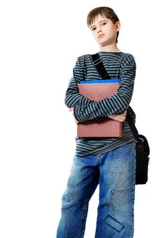 Free Schoolboy With Bag Stock Photo - 14468740