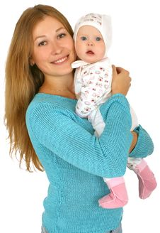 Free Young  Mother With Baby Girl Royalty Free Stock Image - 14468886