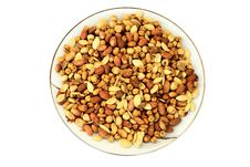 Free Mixed Nuts On A Plate Stock Photography - 14468962