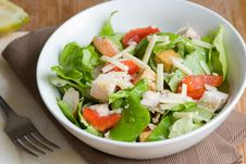 Free Chicken Caesar Salad Royalty Free Stock Photography - 14469357