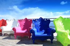 Free Multi-colored Armchairs Stock Photo - 14469780
