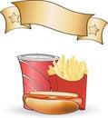 Free Hot Dog Meal Poster Stock Photos - 14478513