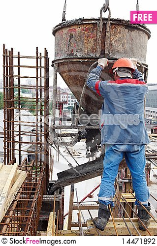 Free Construction Workers Pouring Stock Photography - 14471892