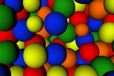 Colourful Ball Background Royalty Free Stock Photo