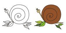 Cute Snail Royalty Free Stock Photo