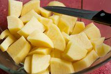 Free Chopped Potatoes Royalty Free Stock Photography - 14470487
