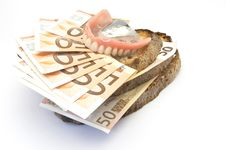 Free Bread And Money Stock Photography - 14470542
