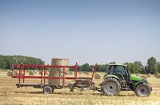Free Tractor On Hay Balls Stock Photography - 14470832