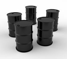 Free Oil Barrels Stock Image - 14470921