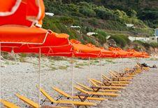 Free Yellow Deckchair Royalty Free Stock Photo - 14471695