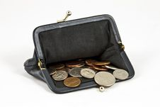Free Coin Purse With Coins Royalty Free Stock Photo - 14472725