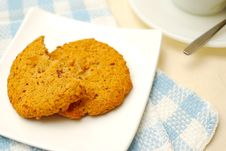 Cookies For Breakfast Or Snack Royalty Free Stock Image