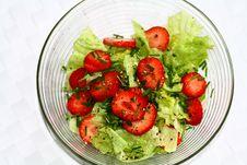 Free Ice Salad With Strawberries Stock Photo - 14472970