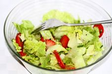Free Ice Salad With Strawberries Royalty Free Stock Photos - 14472978