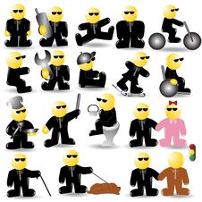 Free Blind Icon Character Stock Image - 14473271