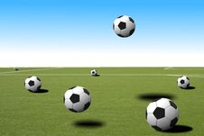 Free Soccer Balls Stock Photo - 14473740