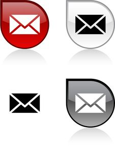 Free Mail Button. Stock Images - 14474284