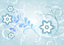 Free Grunge Blue Floral Frame Stock Photo - 14474310