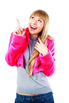 Free Excited Girl Stock Photo - 14474360