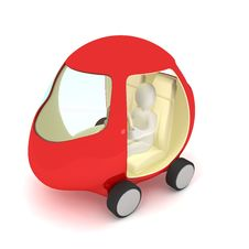 Free Red Car Over White Royalty Free Stock Photo - 14474455