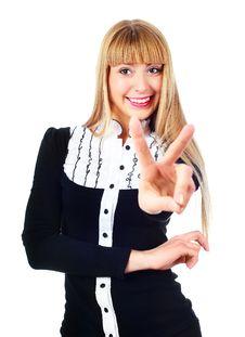Free Businesswoman Showing Stock Photos - 14474563