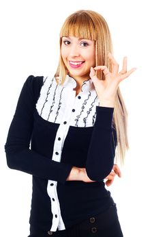 Free Businesswoman Showing OK Stock Photo - 14474610