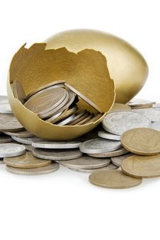 Free Money In Gold Egg. Royalty Free Stock Image - 14474706