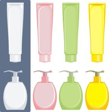 Free Soap And Cream Cosmetic Bathroom Royalty Free Stock Photos - 14478438