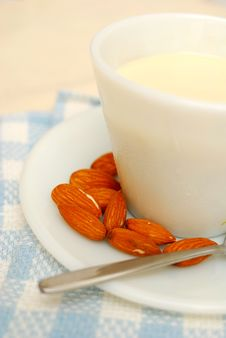 Healthy Almond Drink Stock Images