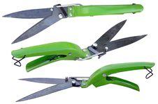 Free Tree Grass Scissors On A White Royalty Free Stock Photos - 14479018