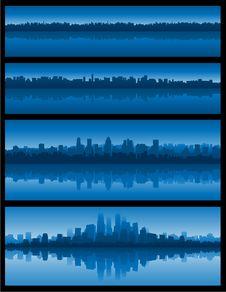 Free Blue Cityscape Background Stock Photography - 14479022