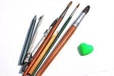 Free Drawing Tools Royalty Free Stock Photo - 14479965