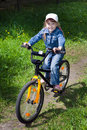 Free The Girl On A Bicycle Royalty Free Stock Photography - 14487017