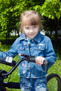 Free The Girl On A Bicycle 1 Stock Photo - 14487030