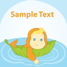 Baby On A Lily Pad Stock Image